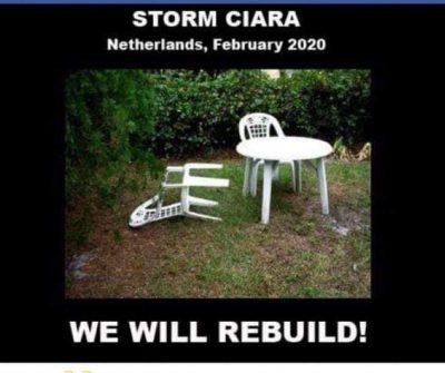 Grap over de storm